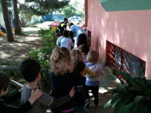 Progetto vivere l'eduzione stradale dell'asilo nido scuola per l'infanzia La Nuvola di Quartu Sant'Elena, in collaborazione con la Polizia Municipale